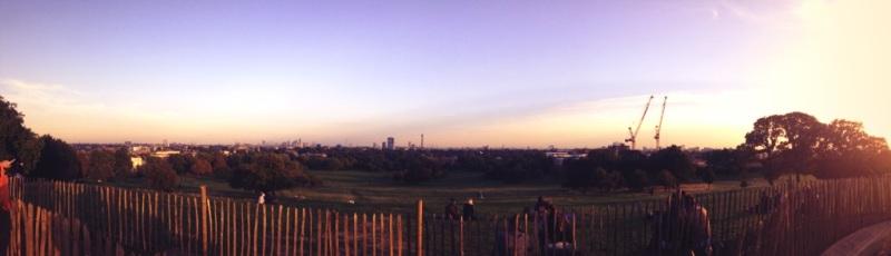 Primrose Hill at sunset
